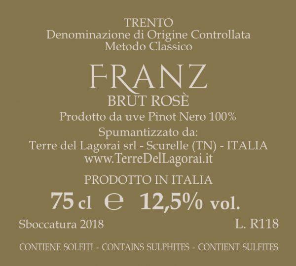 etichetta retro Franz